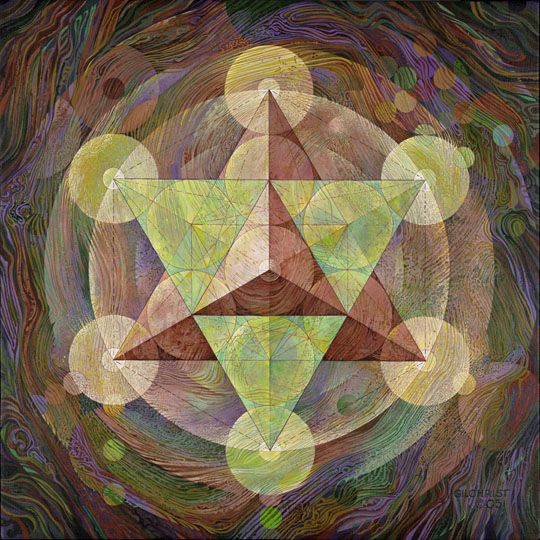 Star Tetrahedron in Metatron's Cube by Charles Gilchrist <3