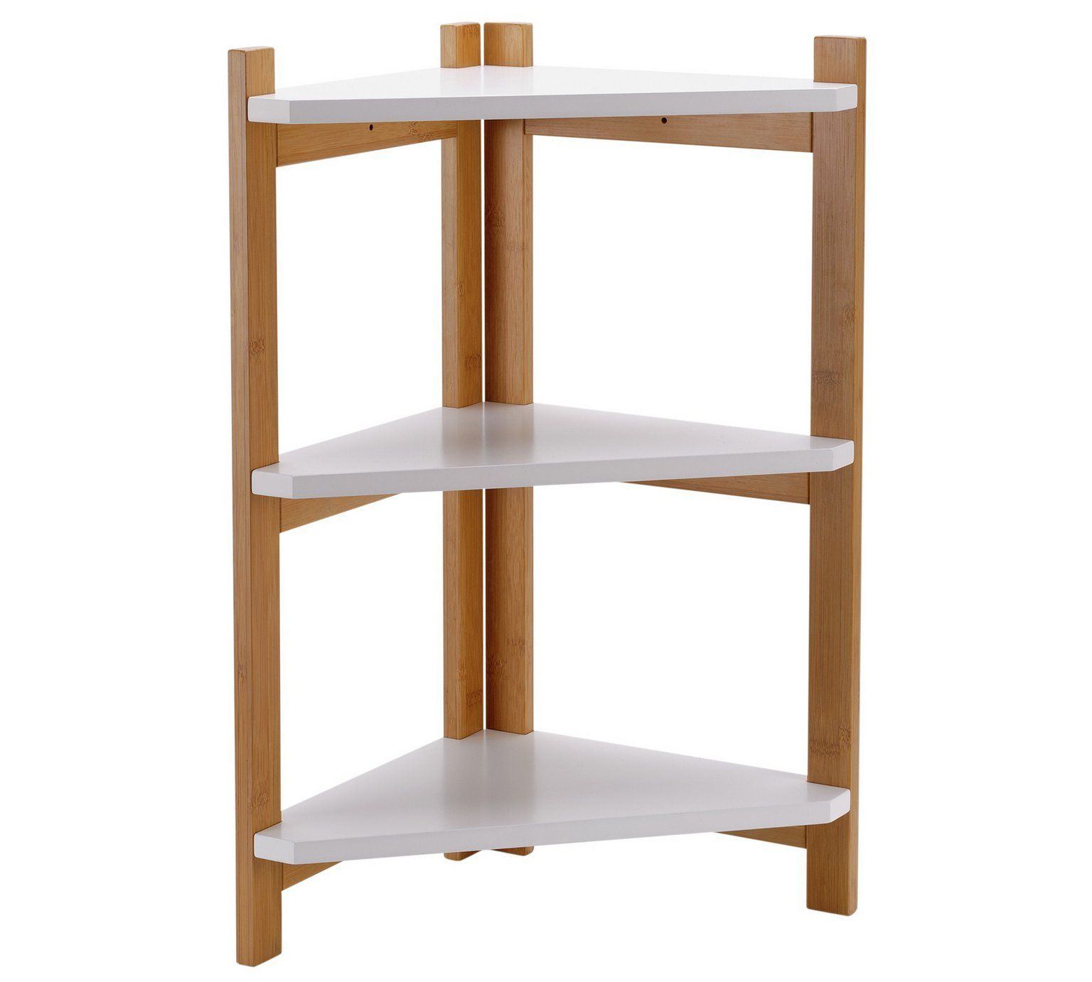 Buy Argos Home 3 Tier Bamboo Corner Shelf Unit Two Tone Limited Stock Home And Garden Argos Corner Shelves Shelves Corner Shelf Unit