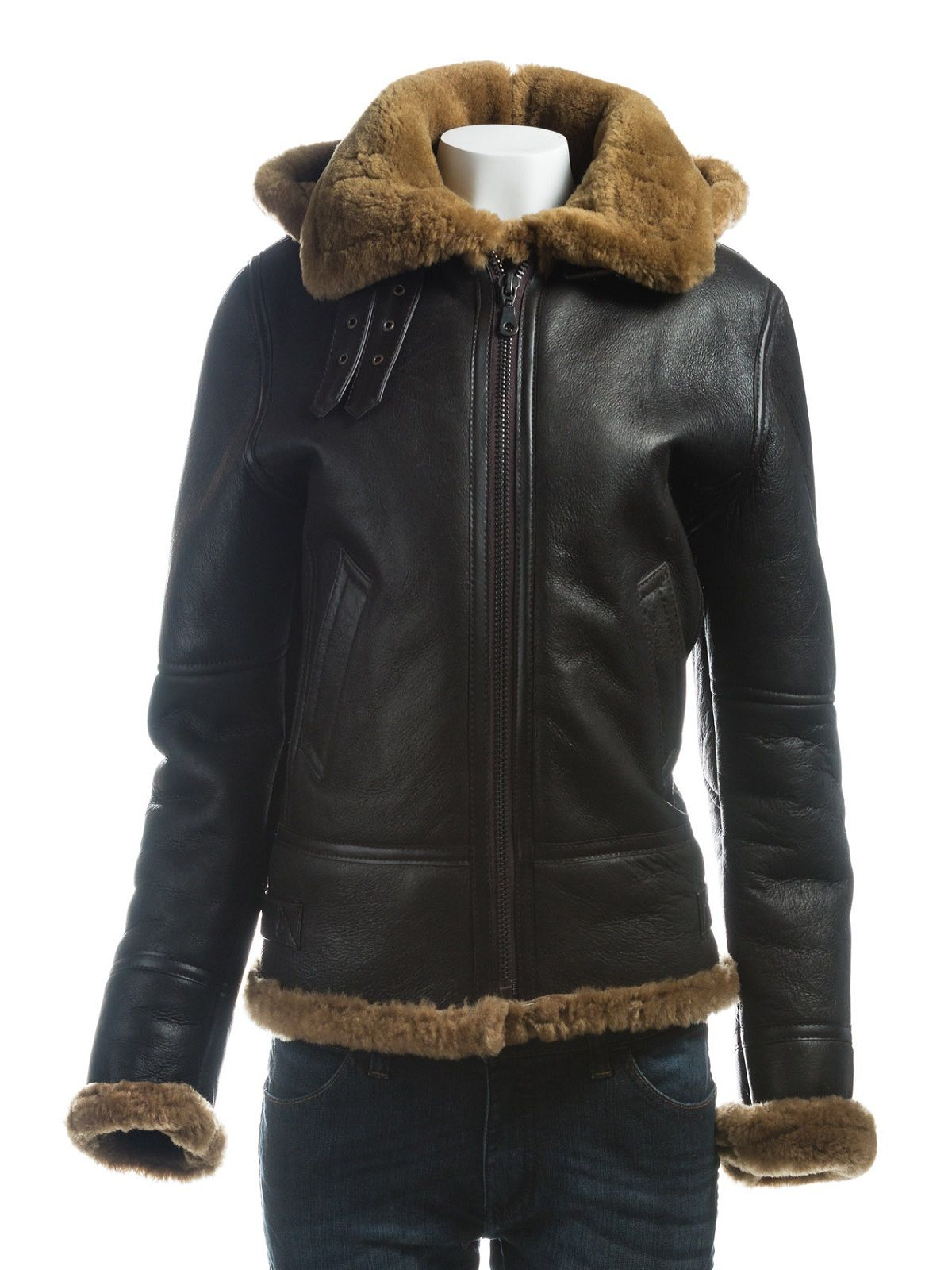 Women B3 Bomber Shearling Leather Jacket Leather jacket