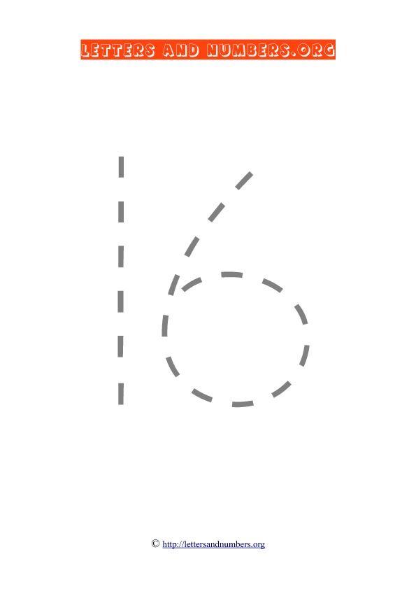 Tracing Number 16 | C H I L D ' S - P L A Y | Pinterest | Number ...