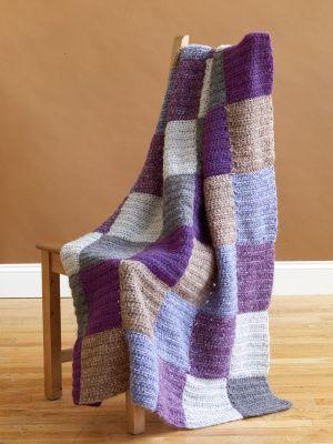 Free Crochet Pattern 70308B Bold Blocks Afghan : Lion Brand Yarn ...