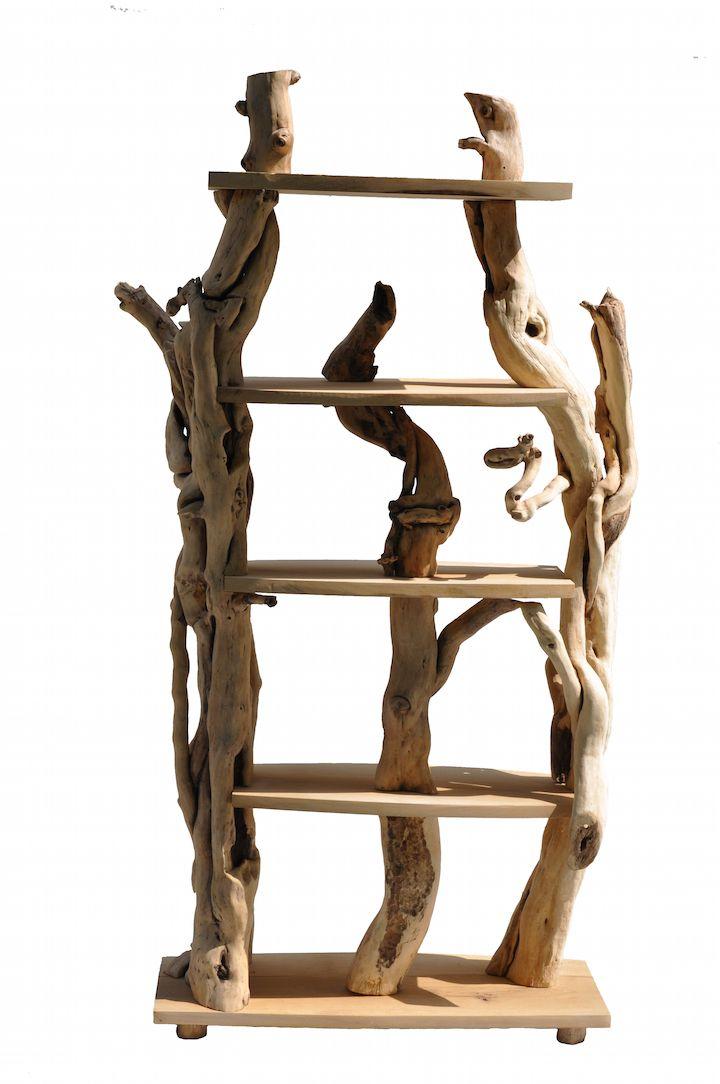 ecodesign libreria in legno Vela