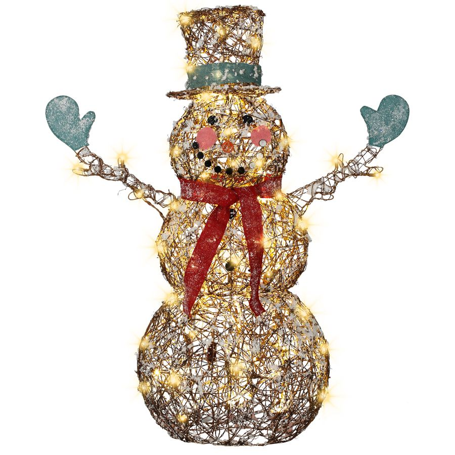 Shop Gemmy 4ft Starry Night GrapevineSnowman with LED