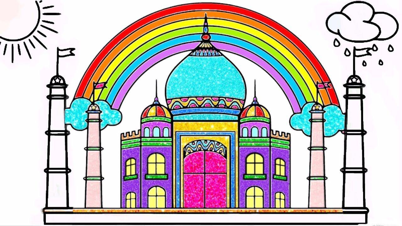 Draw Taj Mahal Coloring Pages For Kids Taj Mahal Drawing