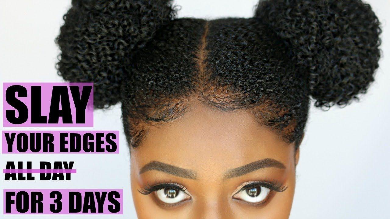 How To Slay Your Edges Secret Hair Gel For Coarse Natural Hair 4c B Smooth Hair Natural Hair Styles Baby Hair Gel