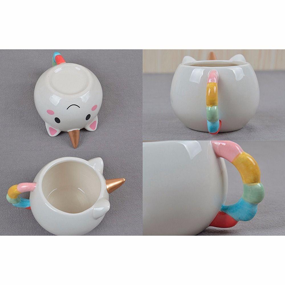 Taza Ceramica En Forma De Unicornio 3d H1307 - $ 99.00