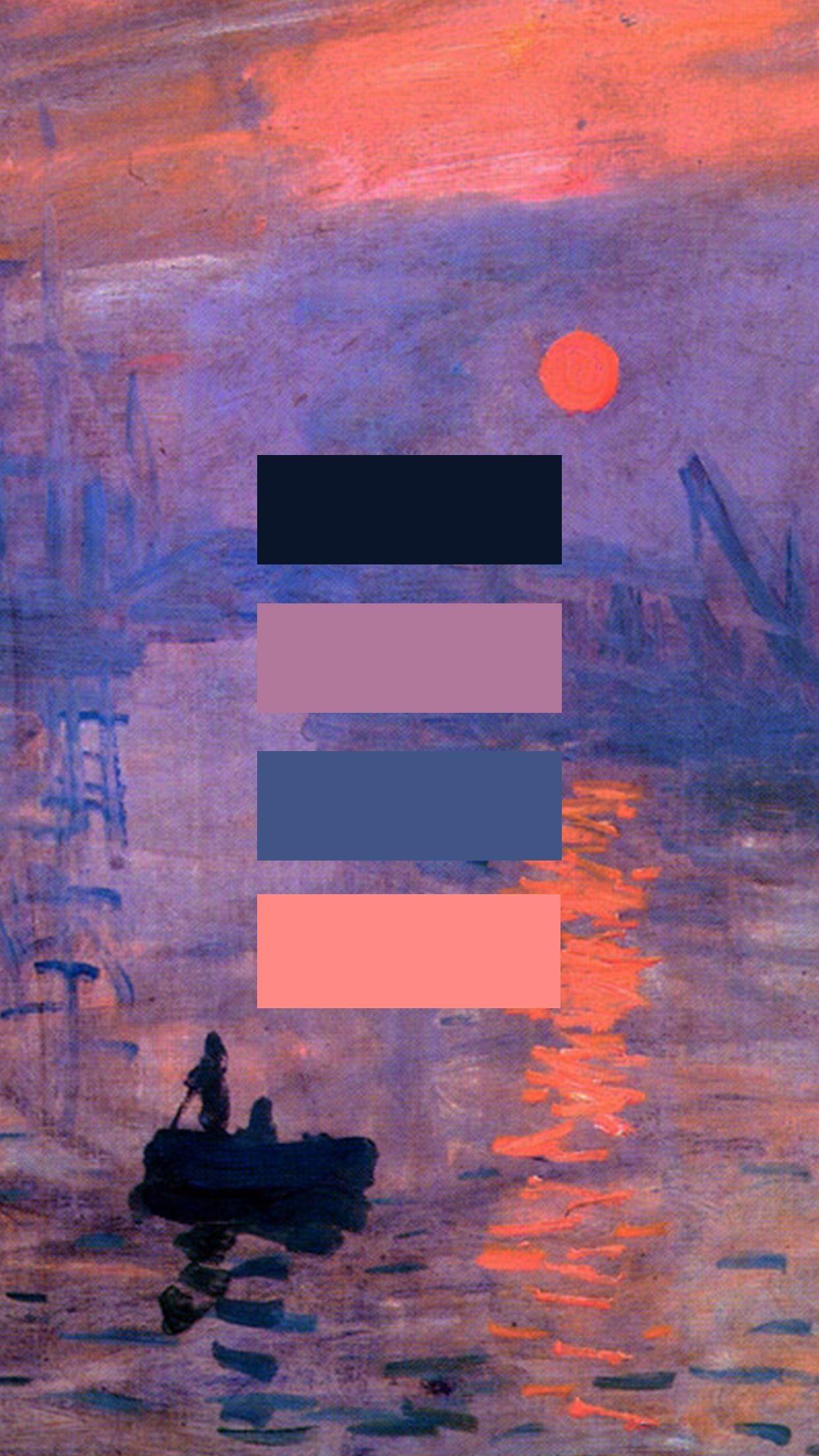 1242x2208 Sunrise By Monet Art Lockscreen Wallpaper