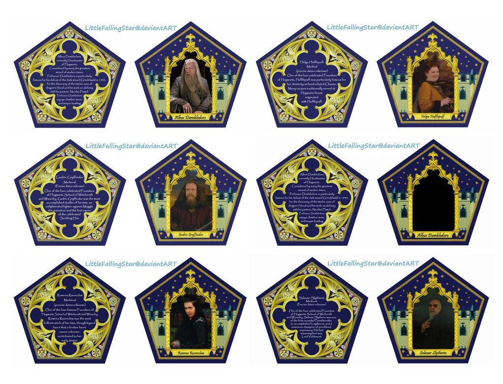 Back And Front Chocolate Frog Cards Make Your Own Littlefallingstar Deviantart C Harry Potter Christmas Tree Harry Potter Printables Harry Potter Christmas