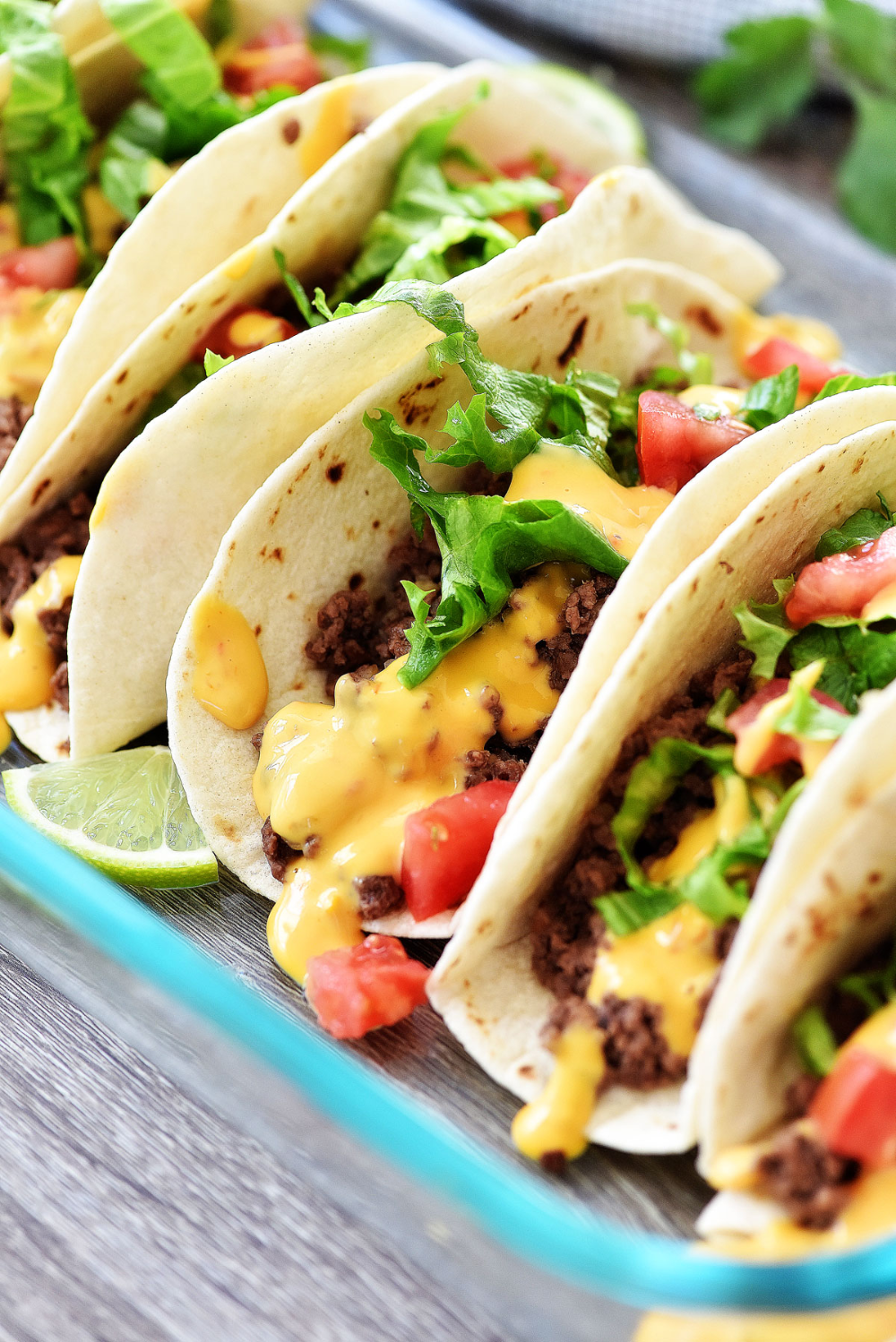 Oven Baked Soft Tacos In 2020 Soft Taco Recipe Ground Beef Soft Tacos Healthy Taco Recipes