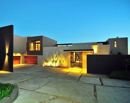 Fachada de entrada de casa moderna inspiraci n de dise o - Disenos de casas modernas ...
