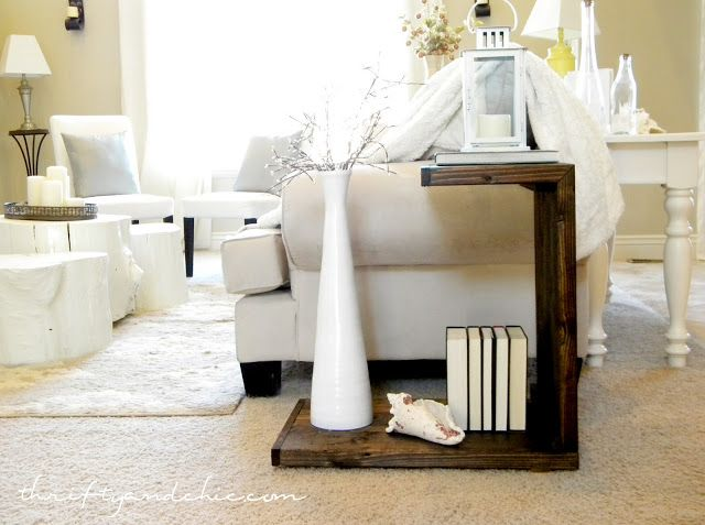 Build A Side Table  Create This Cute Little Side Table Using 2x6 Boards!  Easy
