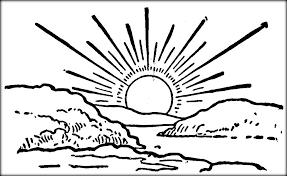Image Result For Sunrise Line Art Sunrise Art Sunrise Drawing Black And White Art Drawing