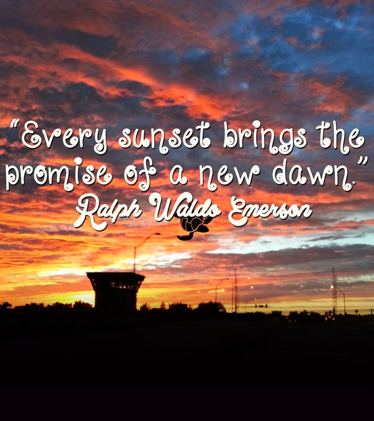 Motivational Quotes About Success: Ralph Waldo Emerson Sunset Quote