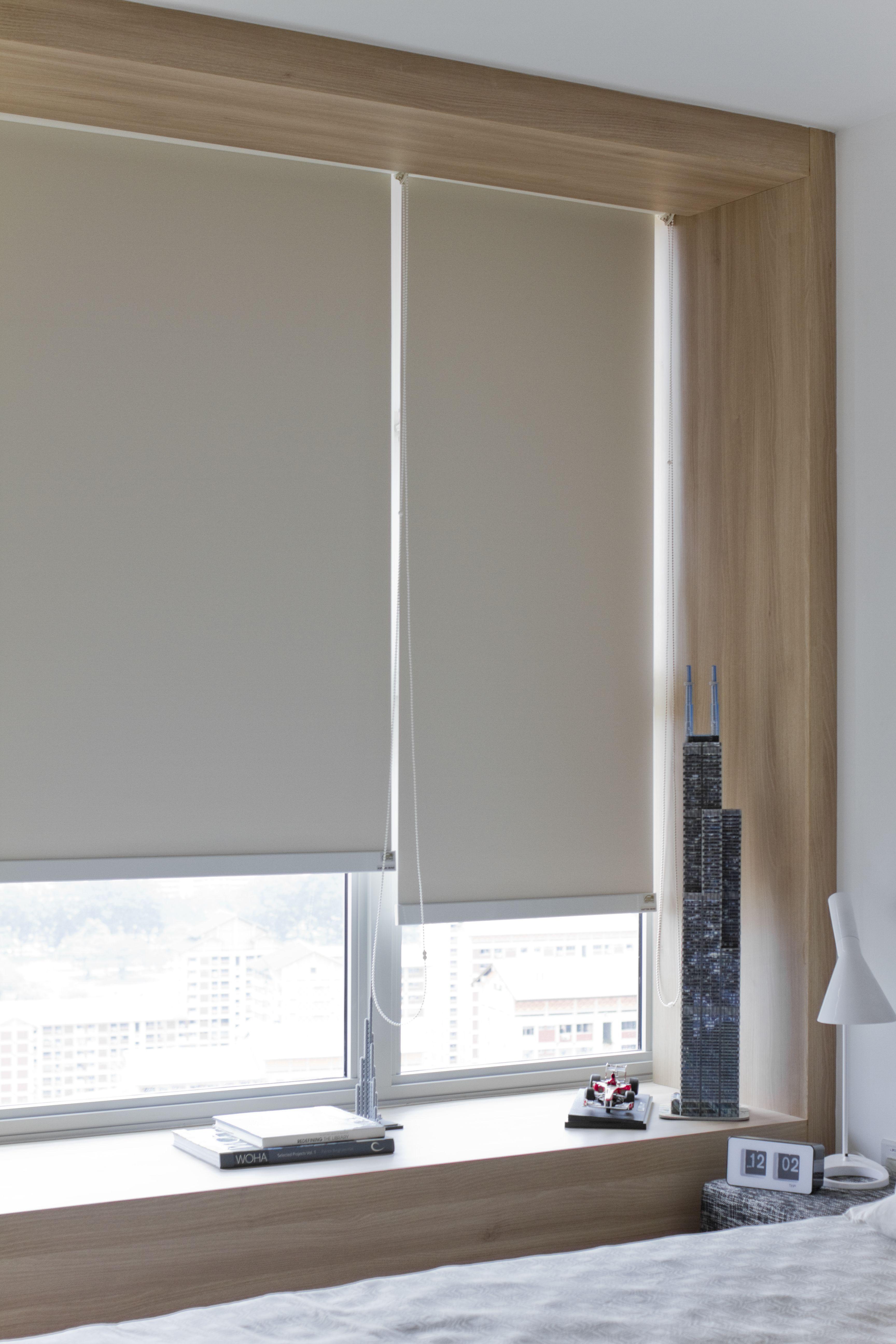 The bay window framing blocks away the perimeter framing of the ...