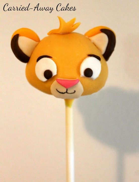 Splendid Simba Cake Pops With Images Disney Cake Pops Lion