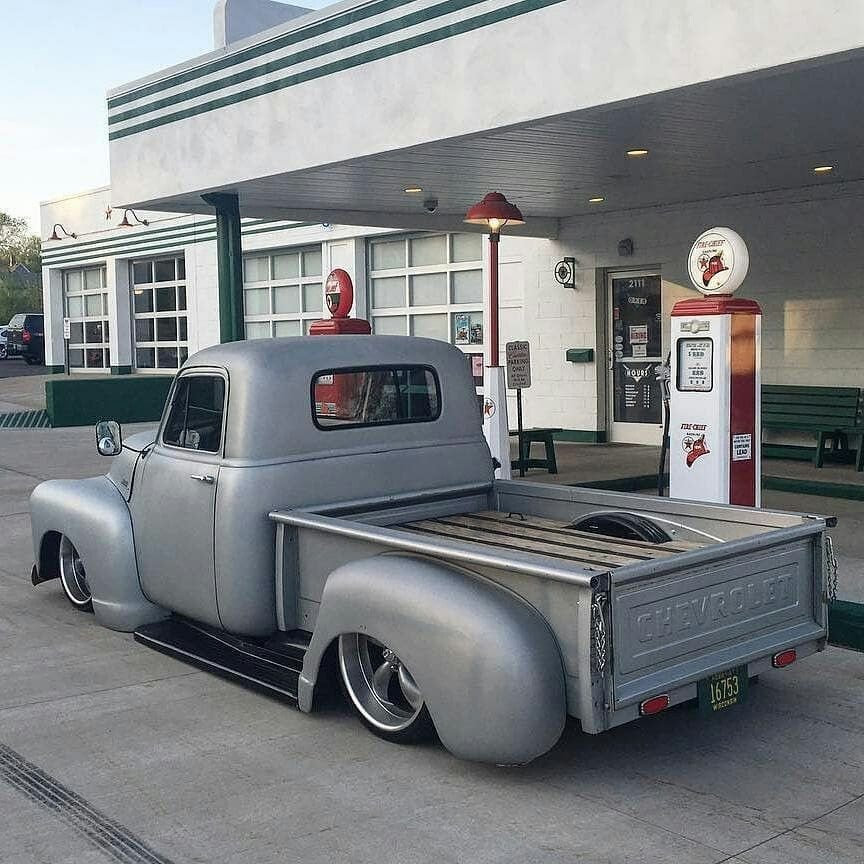52 GMC on Ridler 695Grey 18x8 & 20x10  We built this truck so we can