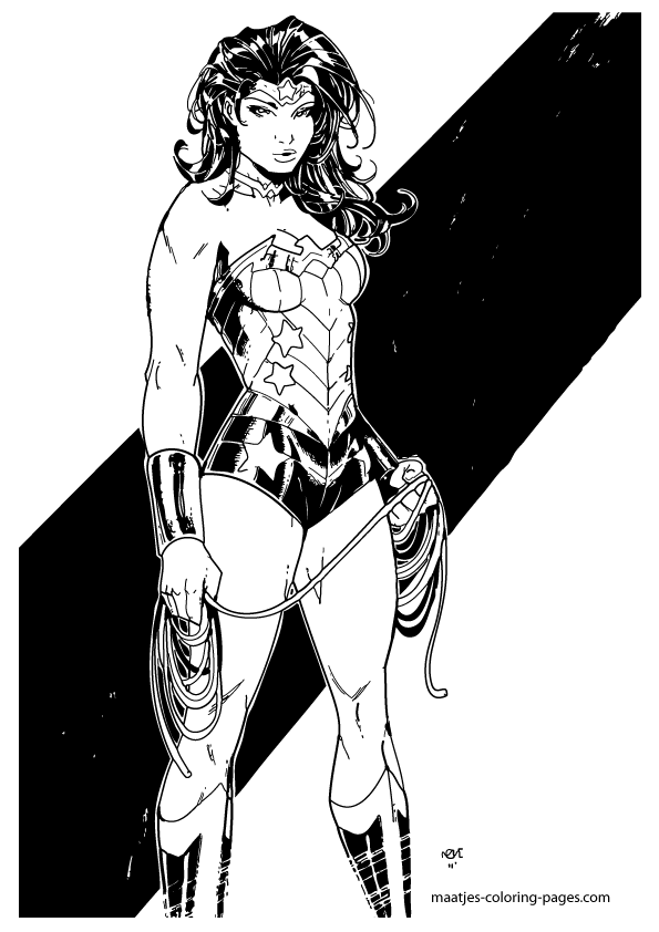 Wonder Woman Coloring Pages My
