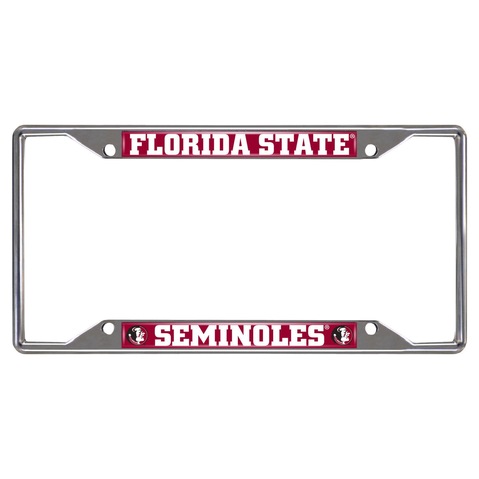 Fanmats Florida State Seminoles Chrome Metal License Plate