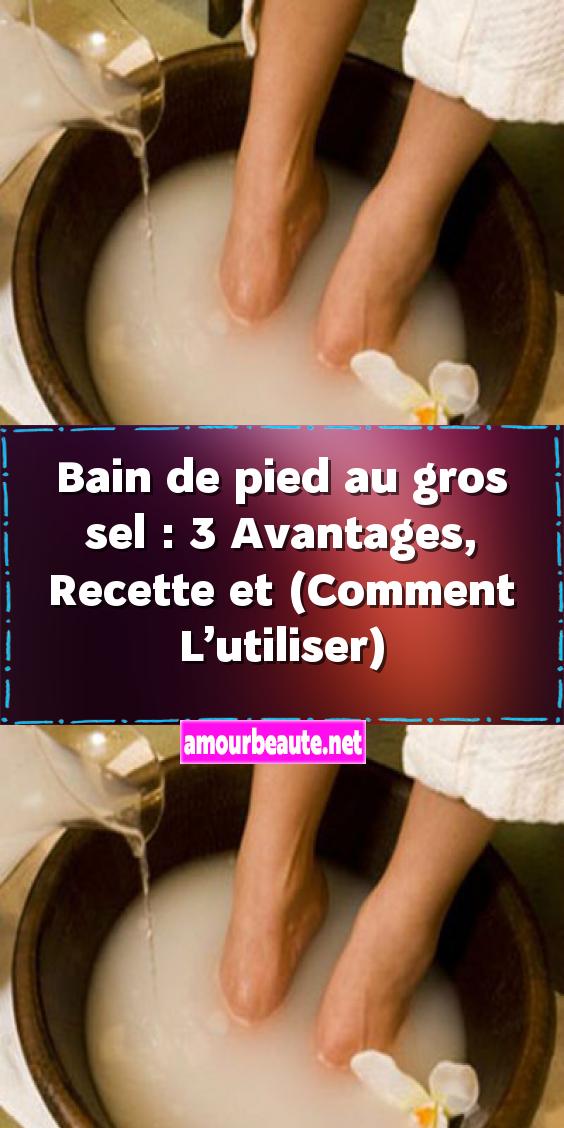Bain De Pied Au Gros Sel : Avantages, Recette, (Comment, L'utiliser), Bottle,, Soap,, Bottle