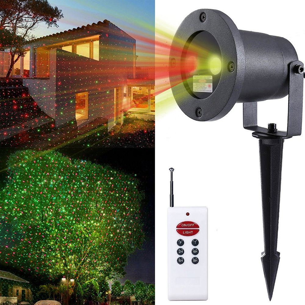 New Outdoor Laser Christmas Lights Projector Holiday Landscape Light With Wireless Remote Control Red And Green Ip65 Waterproof Laser Christmas Lights Landscape Spotlights Landscape Lighting