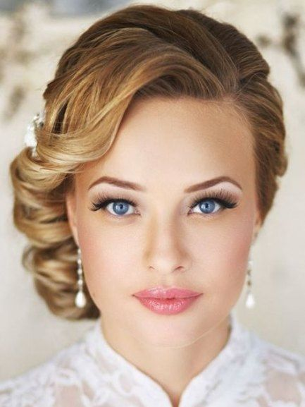 Vintage wedding hairstyles side pin up 36 ideas #weddinghairstylesside