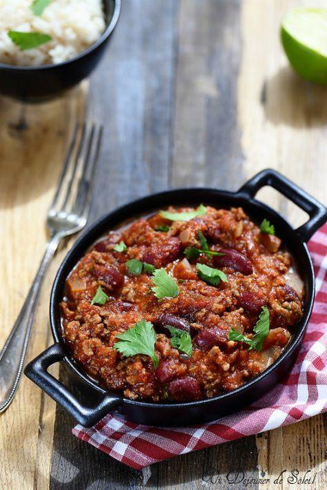 chili con carne recette cuisine en 2019 chili chili con carne et chili recipes. Black Bedroom Furniture Sets. Home Design Ideas