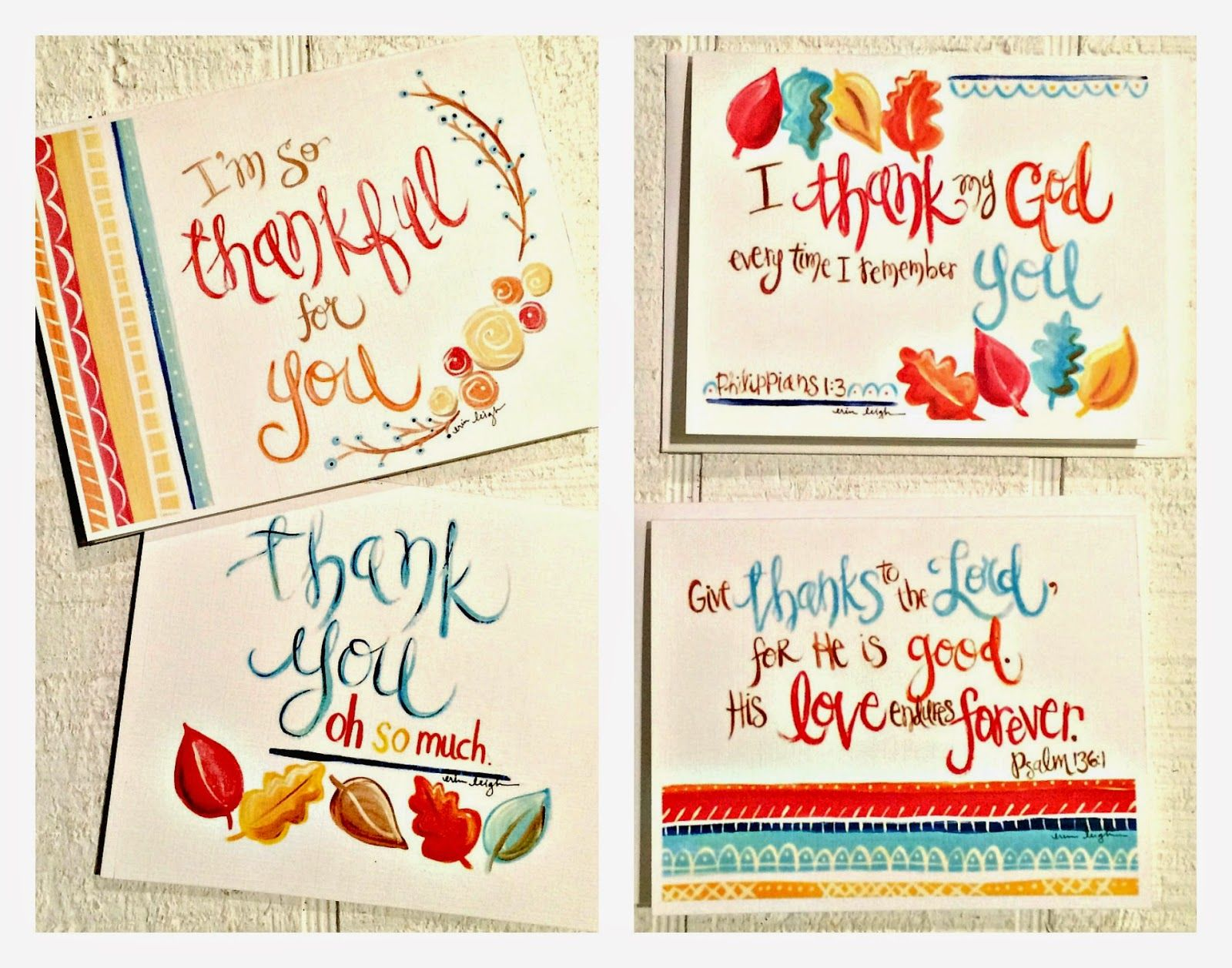 Say thank you free thanksgiving printable thank you cards and art by erin leigh say thank you free thanksgiving printable thank you cards and kristyandbryce Gallery