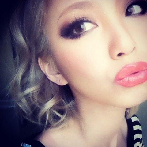 coral pink lipstick!