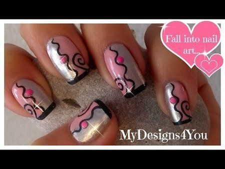 Easy Aztec Nail Art For Beginners Grey And Pink Nails Tutorial