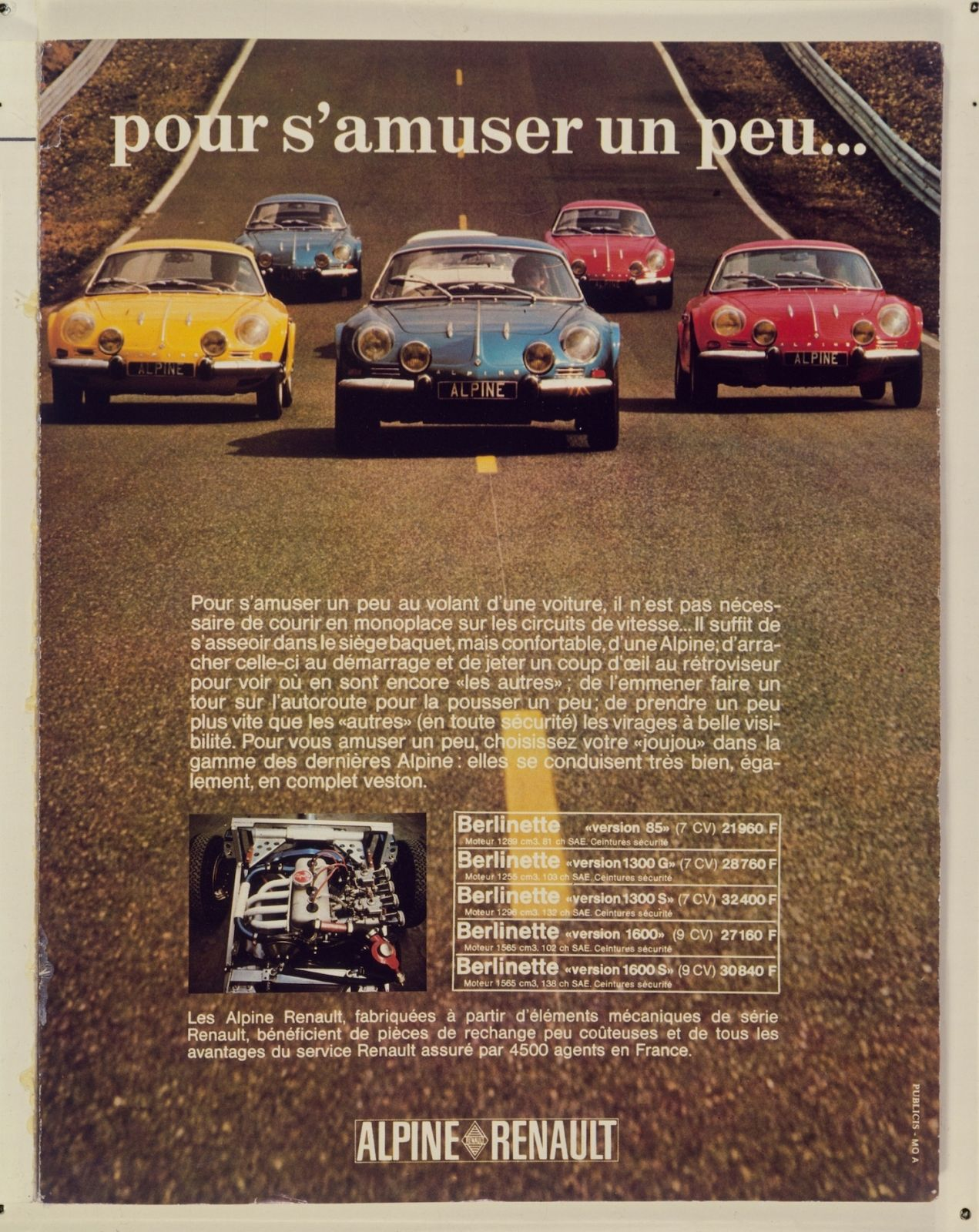 Alpine A110 1300s 13 Jpg 1271 1600 Car Advertising Car Posters Volkswagen Bus