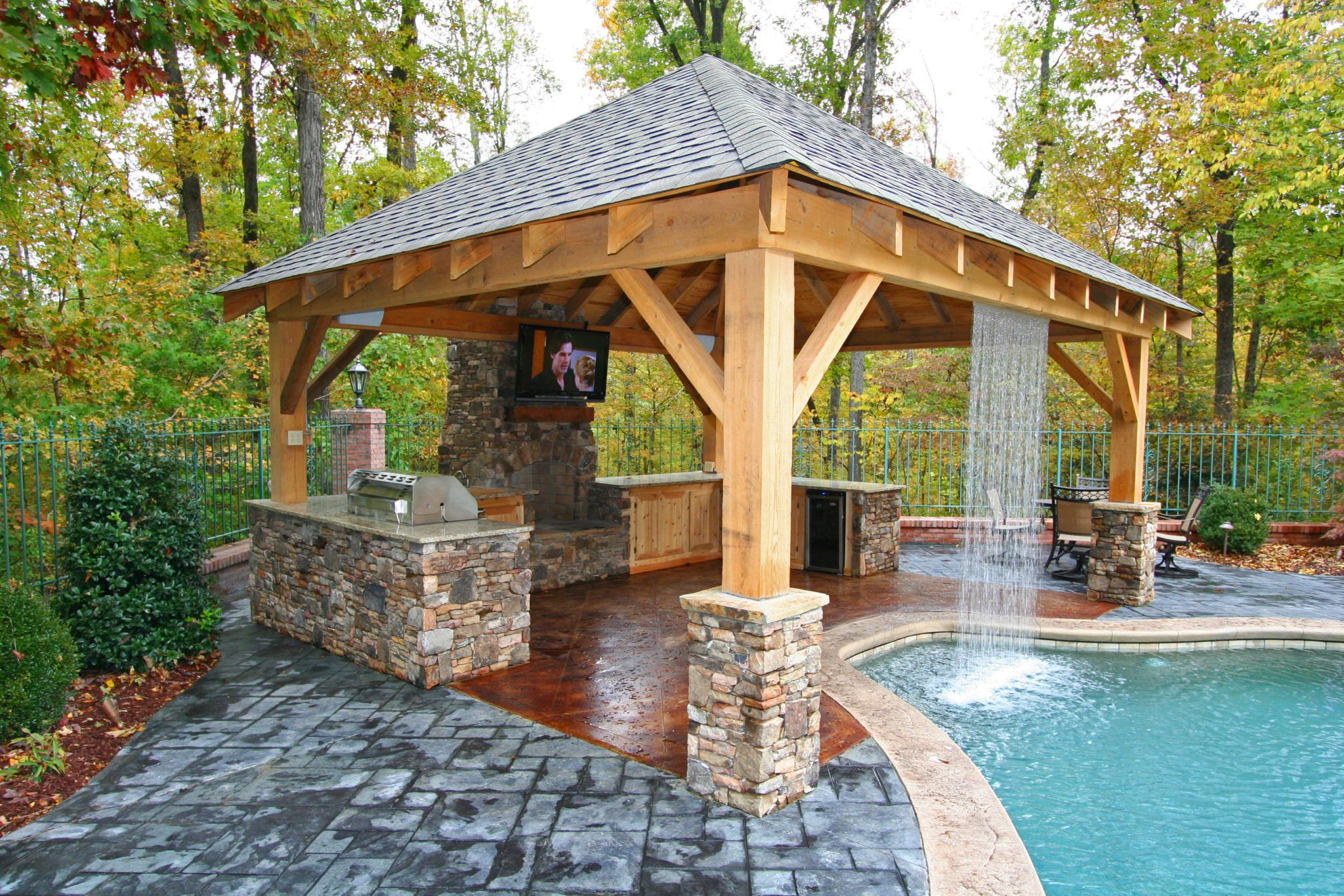We're loving this waterfall! https://www.midstatepools.com ... on Ab And Outdoor Living  id=32345