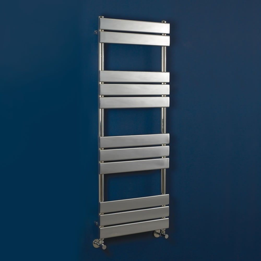 Small heated towel rails for bathrooms - Phoenix Sorento Designer Stainless Steel 8 Bar Towel Radiator 950 X 500mm Product Code