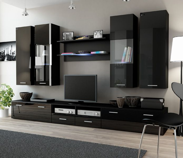 Toskan 4 - black entertainment center for living room ...