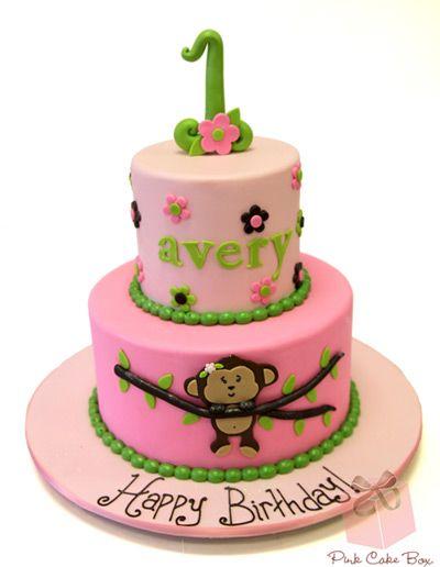 2nd Birthday Monkey Birthday Cake Birthday Cakes Monkey birthday