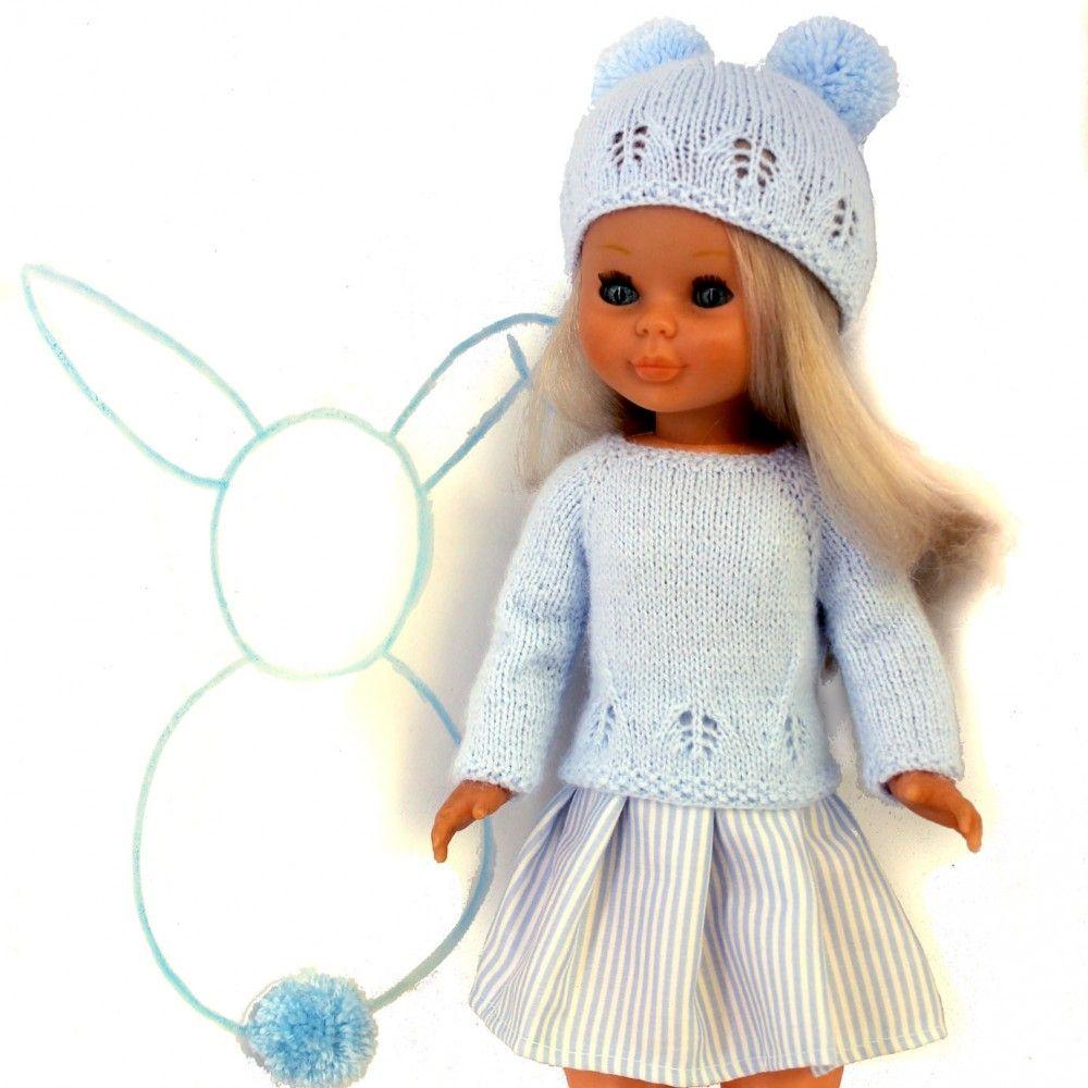 Patrón jersey, gorro y falda Nancy | Nanci,Barbie y Nenuco, patrones ...