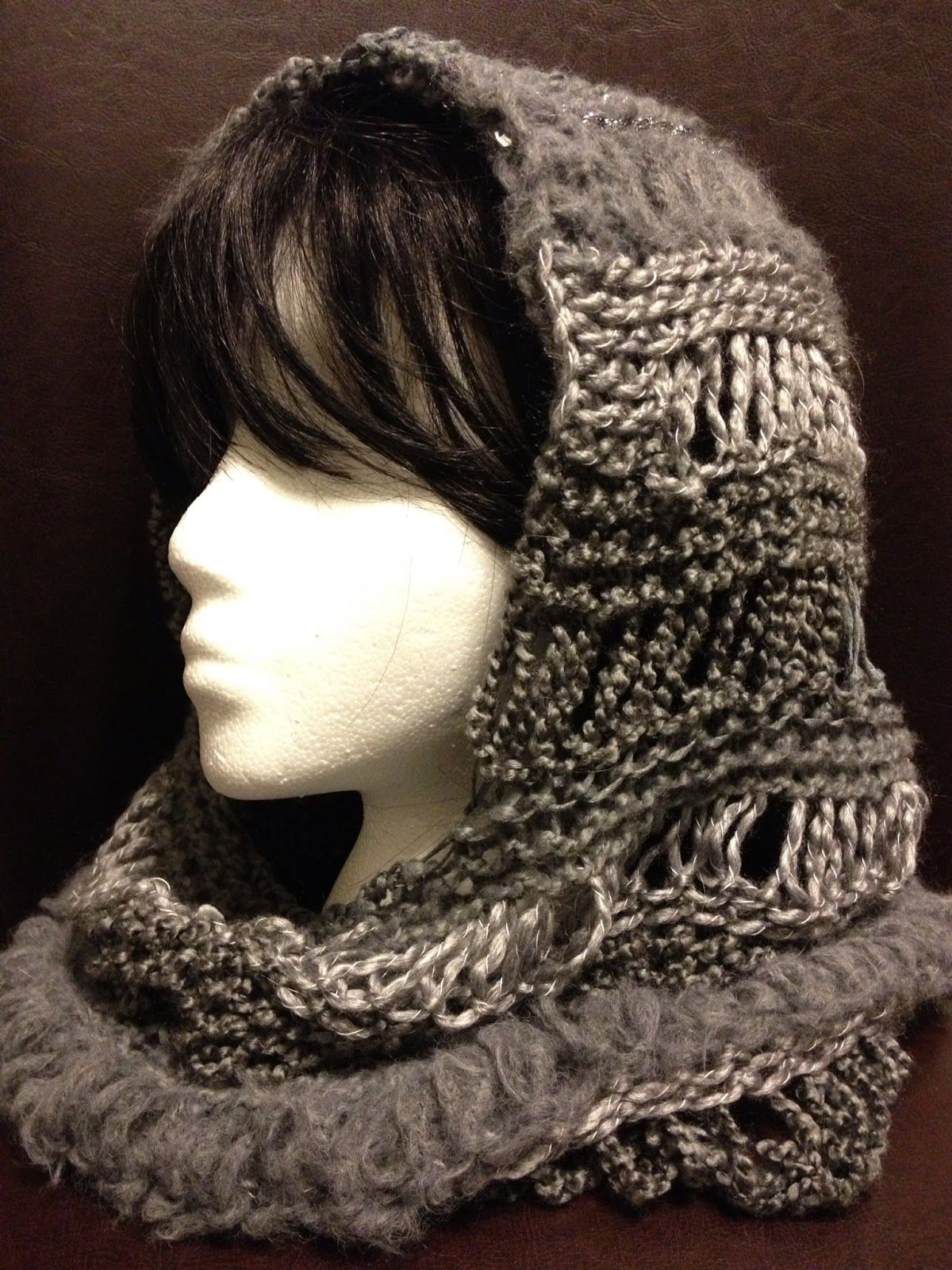 Loom Knit Changes Hooded Cowl Pattern by Charity Windham | Free Loom ...