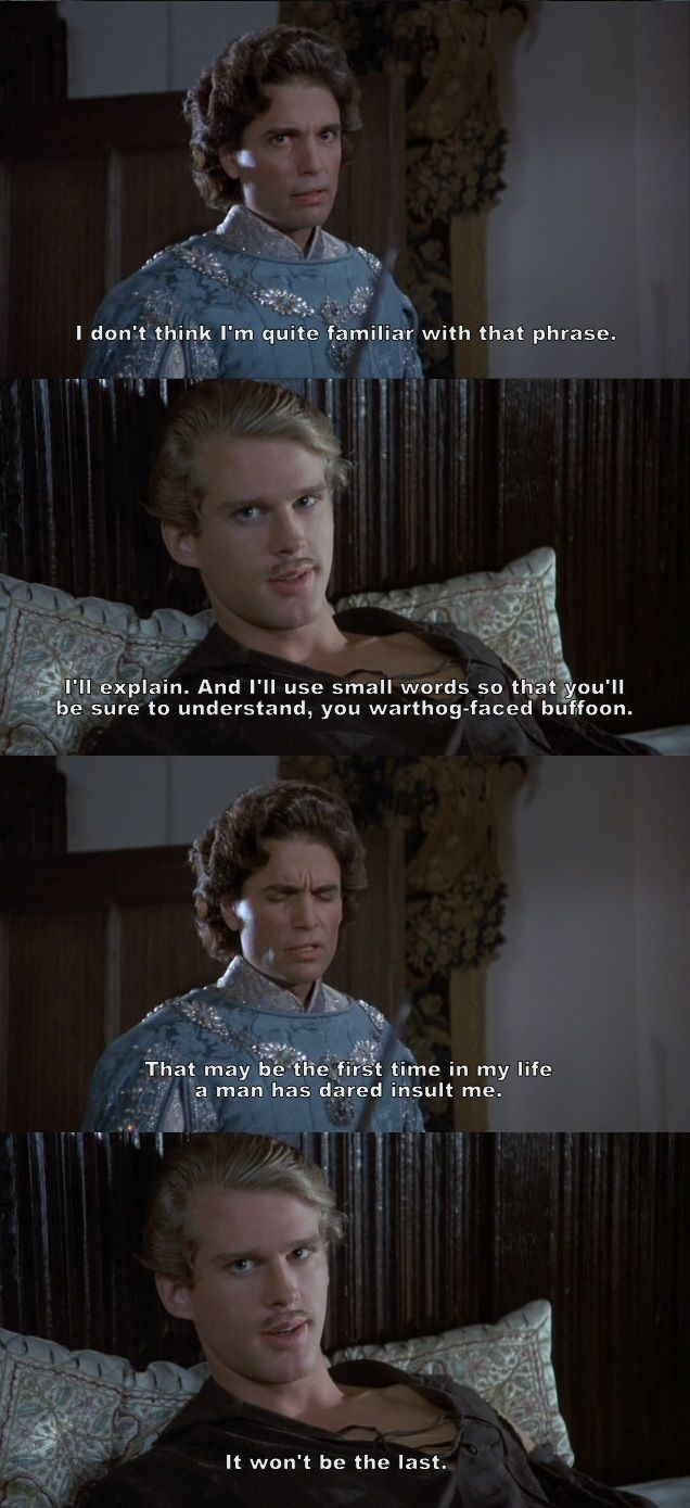 """""""I'll explain. And I'll use small words so that you'll be sure to understand."""" (The Princess Bride)"""