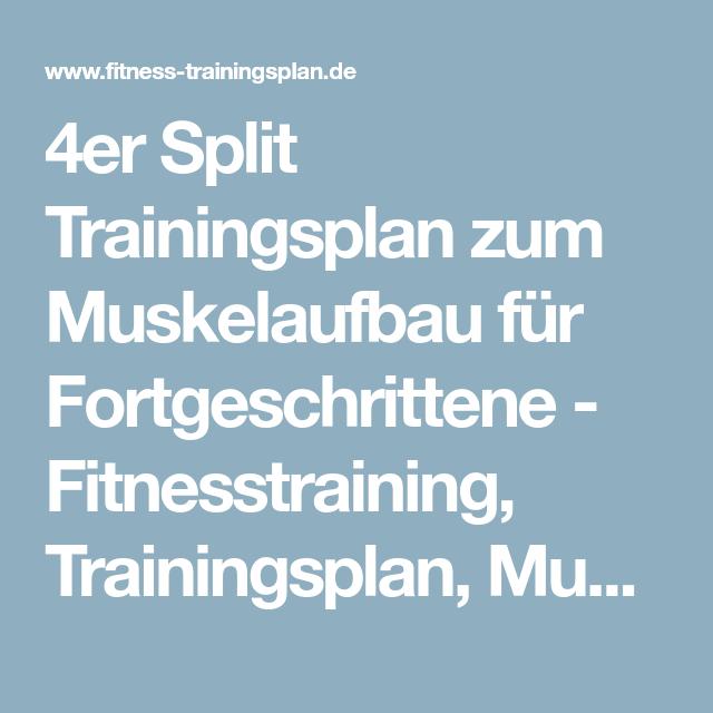 4er Split Trainingsplan Zum Muskelaufbau Für