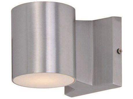 Maxim Lighting Lightray Led Brushed Aluminum Two Light Outdoor Wall Light Wall Sconces Outdoor Wall Sconce Sconces
