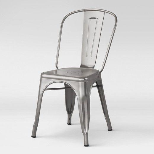 Carlisle High Back Dining Chair Threshold Metal Dining Chairs High Back Dining Chairs Dining Chairs