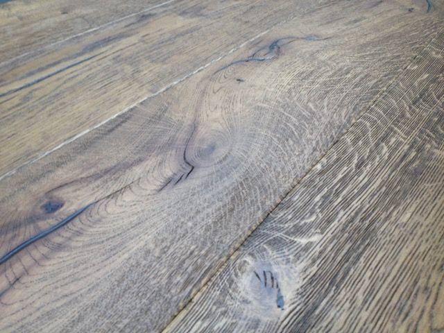 220mm Wide Oak Distressed Antiqued Engineered Flooring Light Brown
