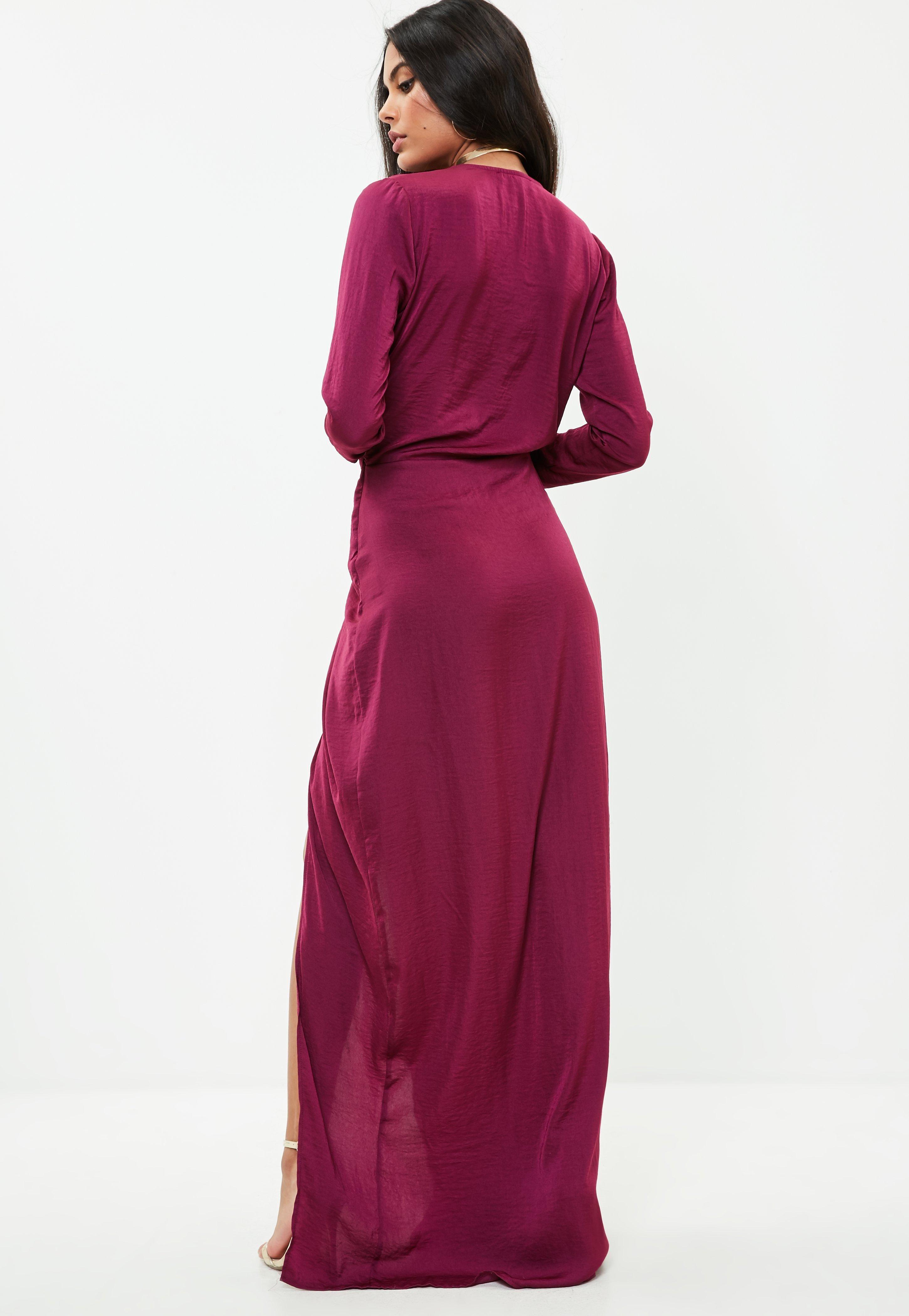 Missguided Tall Purple Wrap Maxi Dress Amanda Maxi Dress Maxi Wrap Dress Dresses [ 4200 x 2900 Pixel ]