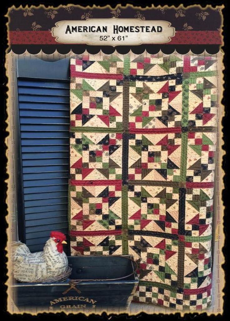 American homestead craftsy traditional quilts quilts