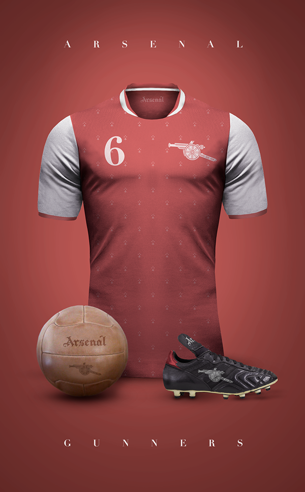 c9727c5739c Vintage Clubs II on Behance - Emilio Sansolini - Graphic Design Poster -  Arsenal - Gunners