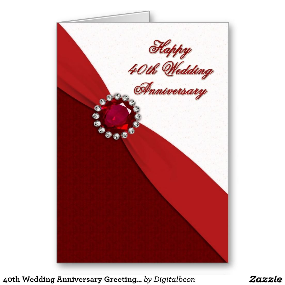 40th Wedding Anniversary Greeting Card | Pinterest | Wedding ...