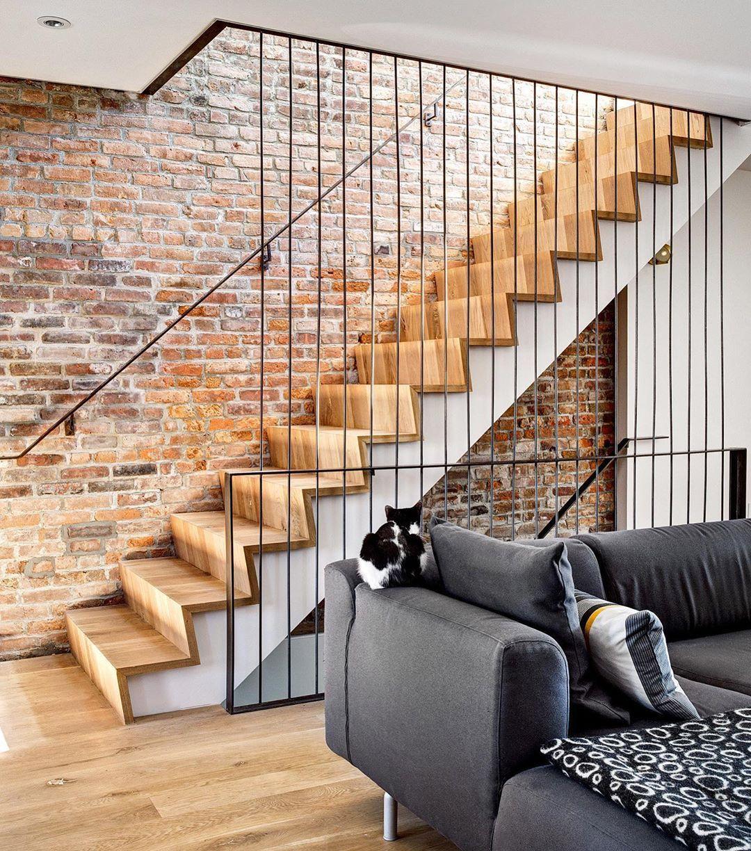 Minimalist Interiors On Instagram Brick Wall Wooden Stairs I M
