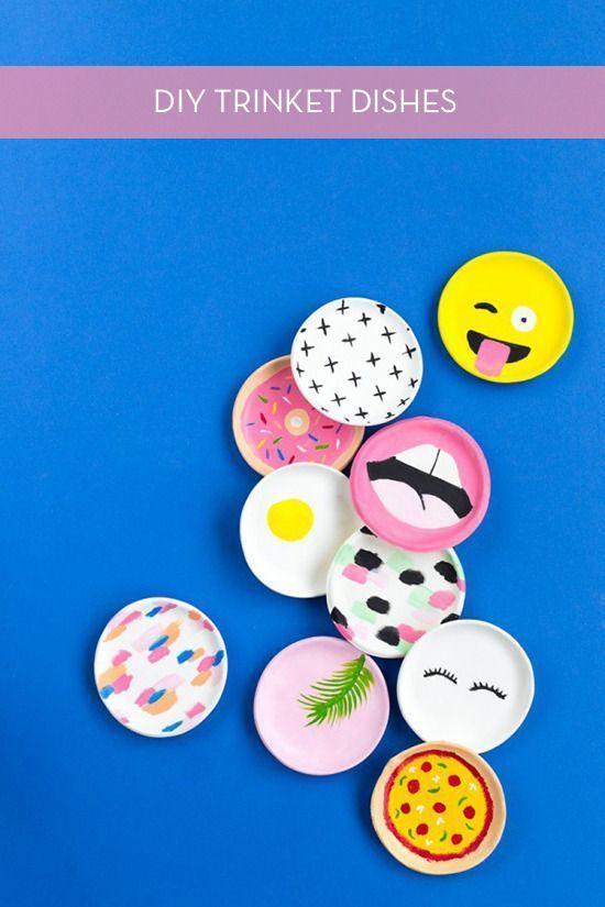 Make It: Modern & Colorful Trinket Dishes -   diy Tumblr gifts