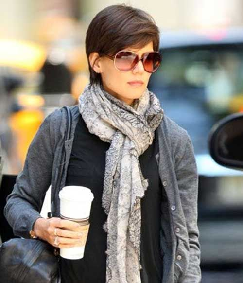 Katie Holmes Pixie Cuts Katie Holmes Pixies And Short Hair