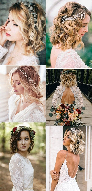 20 Medium Length Wedding Hairstyles For 2021 Brides Emmalovesweddings Wedding Hairstyles For Medium Hair Wedding Hairstyles Medium Length Boho Wedding Hair