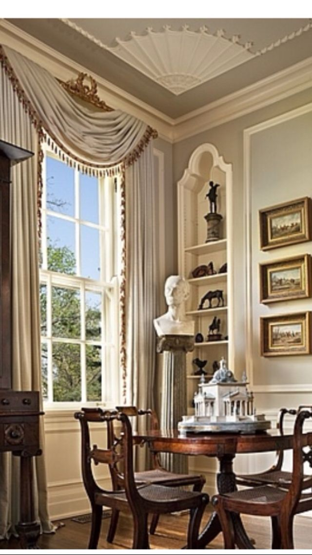 Georgian Drawing Room: Georgian Interiors, French Country Living Room